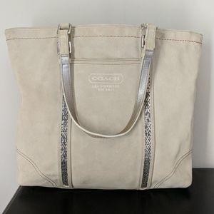 Coach suede tote bag or shoulder bag